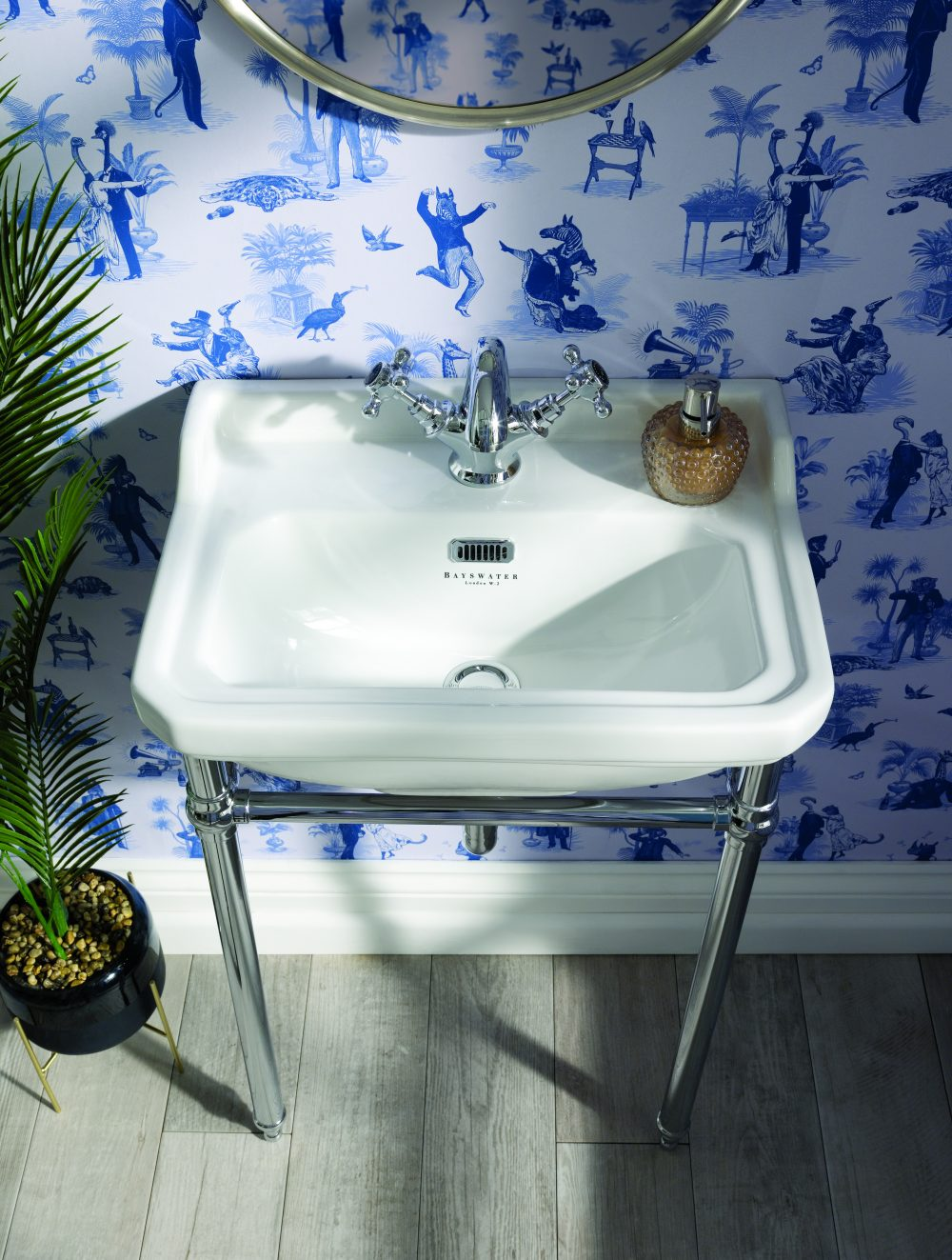 The Fitrroy Basin and Universal Basin Stad with Divine Savages Wallpaper - Safari Soiree
