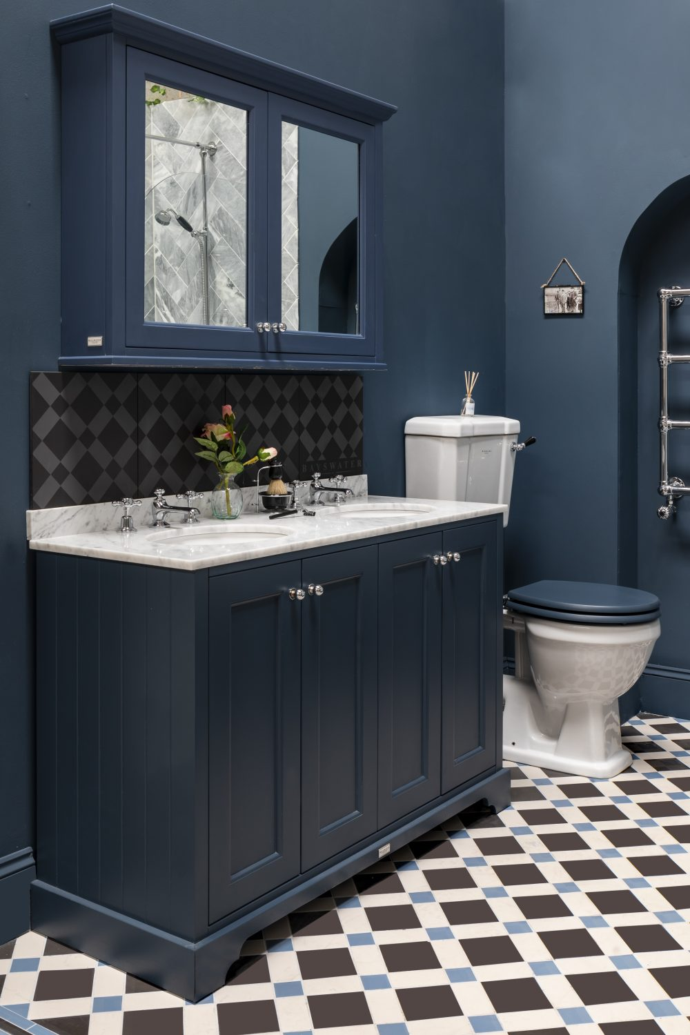 The Stiffkey Blue Double Unit with Grey Marble