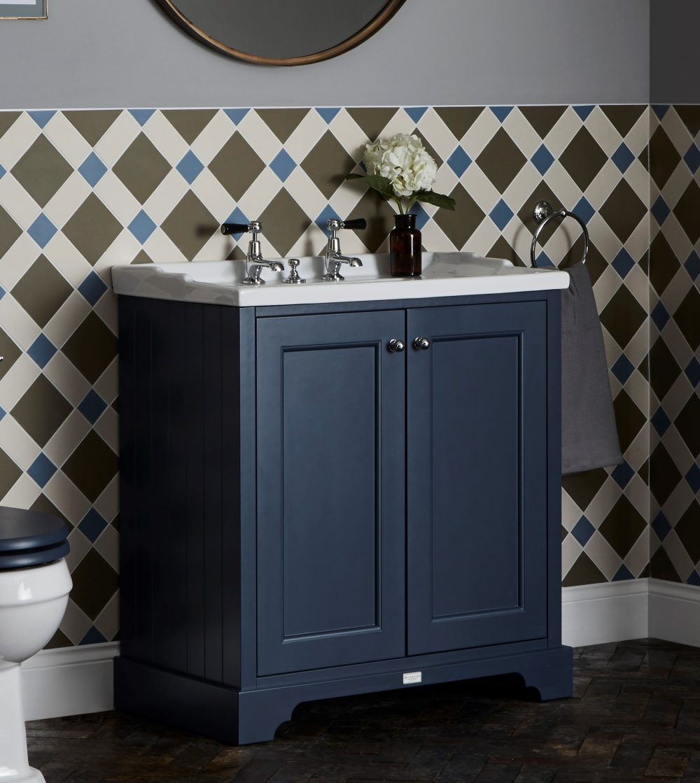 The Stiffkey Blue Furniture Unit with Ceramic Basin